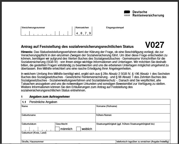 DRV Fragebogen V027